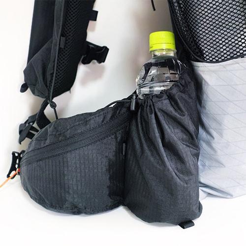 ジップポケット+ボトルポケット
